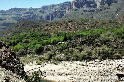 Scenery on bus ride to bottom of Batopilas Canyon