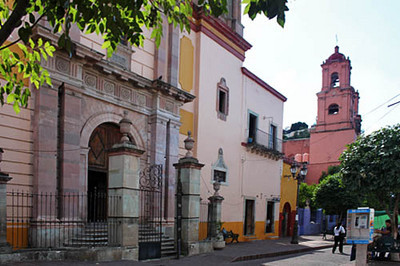 One of many old churches in Guanajuato