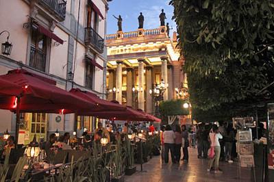 Teatro Juarez and Jardin de la Union