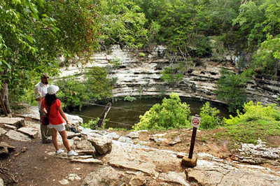 Cenote Sagrado, major site of human sacrifice at Chichen Itza