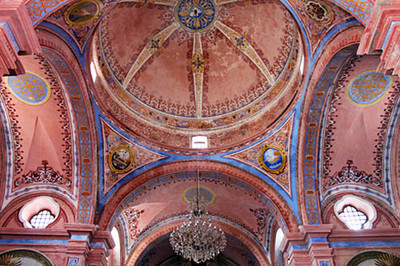 Ceilings at Church of the Virgin of Candelmas
