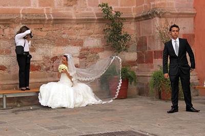 Wedding photos at Ex Temple of San Agustin