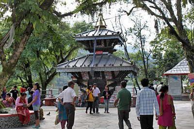 Barahi Temple on the island in Phewa Lake