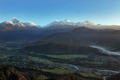 Another view of the fertile valley as dawn breaks
