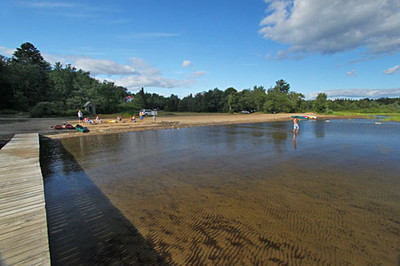 The beach on Piseco Lake at Irondequoit Inn