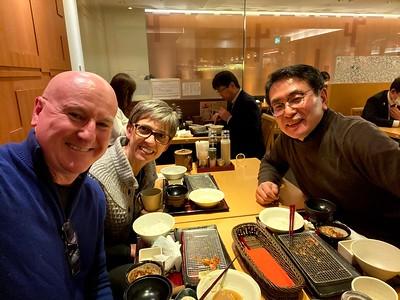Joe and Silk with Rev. Nobuo Nagai