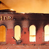 MER is all that remains as a fire guts the Merrimac Paper Co. Photo by Mary Schwalm