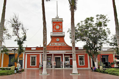 Library in the central plaza of Lima's Barranco neighborhood