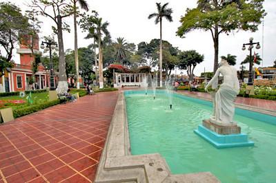 Fountain in Lima's bohemian Barranco neighborhood