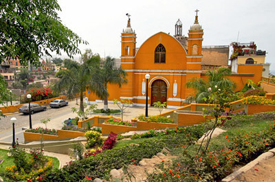 Church in Barranco neighborhood of Lima