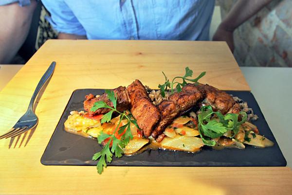 Salmon entree at Vine Bridge Restaurant