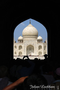 1st view of the Taj Mahal in Agra