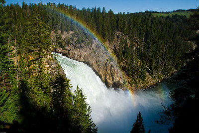 Rainbow Falls at Yellowstone