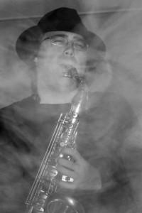 Graeme smokin' on the Sax