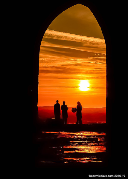Sunrise at Glastonbury Tor