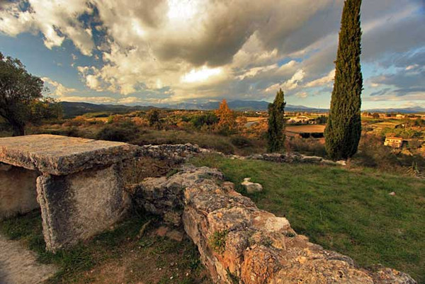 Sunset from a hilltop in Banyoles, Spain