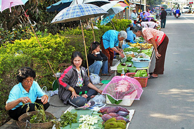 Fresh market in Chiang Khong was amazing