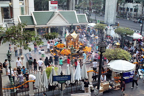 Erawan Shrine, from Bangkok's Sky Train walkway