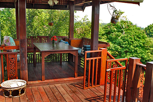 Deck of vacation rental home, Good Time Resort