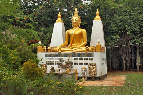 Small monastery and stupa on the island