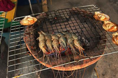 Yummm! Grilled fresh shrimp at Fisherman's Village