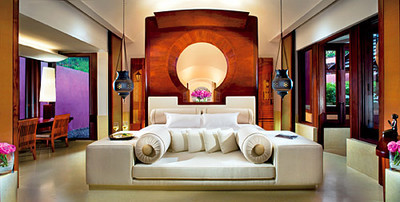 Phulay Bay Resort villa living room