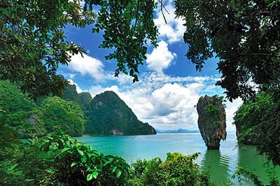 Krabi islands and karst limestone formations