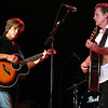 Derry:<br /> Kevin Bacon, left, and his brother Michael Bacon, as The Bacon Brothers, performed Friday evening at Pinkerton Academy's Stockbridge Theatre.<br /> Photo by Allegra Boverman/Eagle-Tribune Sunday, July 31, 2005