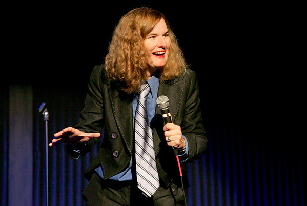 Londonderry: Comedian Paula Poundstone has the crowd at Tupelo Music Hall in an uproar when she pokes fun at an audience member Saturday evening during her performance. Photo by Jan Seeger/Derry News Saturday, November 03, 2007