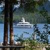 A yacht anchored in Yes Bay. Photo taken with an Olympus E-500 DSLR with a 45-150 Zoom Lens.