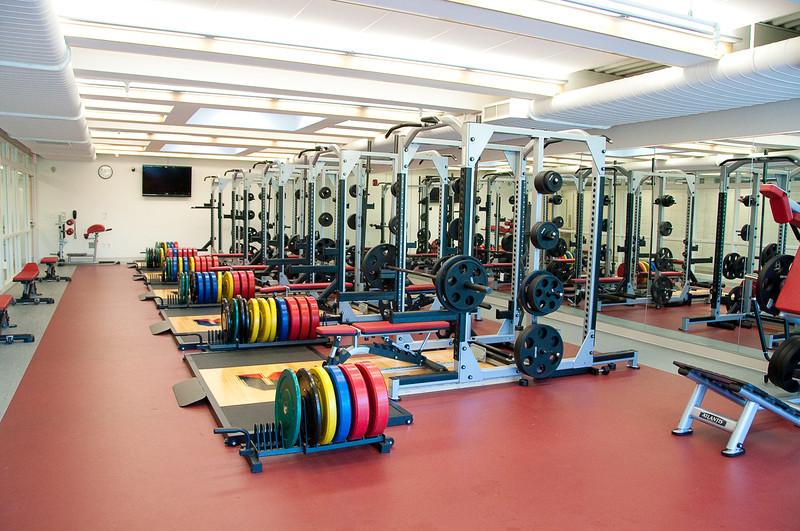 The Flood Athletic Center Free Weight Room