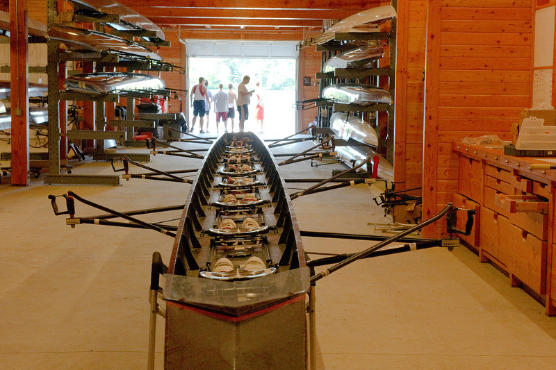 A bay in our boathouse
