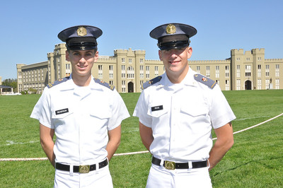 Freedom Alliance Scholarship recipient Tim Richerson and Military Leadership Academy Instructor Denver Reese both attend Virginia Military Institute in Lexington, Virginia.