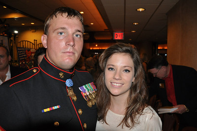 Freedom Alliance Scholarship recipient Cheyenne Yost meets Medal of Honor recipient Sergeant Dakota Meyer in New York City.