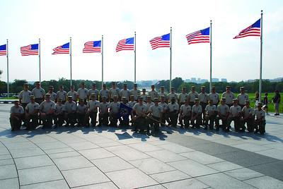 2010 Cadets at the Washington Monument.