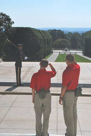 2011 Cadets observing the Tomb of the Unknown Soldier at Arlington National Cemetery.