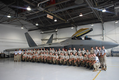 Cadets get up close and personal with the most advanced and superior aircraft in the world, the F-22 Raptor, while touring Langley Air Force Base. Cadets received briefs by the Air Force's F-22 Demonstration Team, the most qualified aviators in the world.