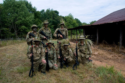 A squad of 2010 Cadets shortly after completing an Assault lane on a fixed position.