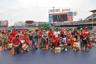 Service members from Richmond Polytrauma Rehabilitation Center and their families enjoy a day at Nationals Park.