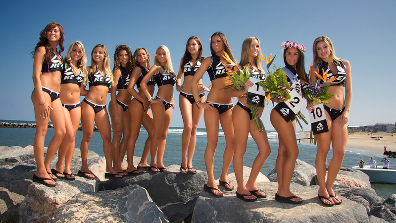 Miss Reef Contest and all Boat Traffic Stopped in Rudee Inlet