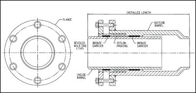 Slip type expansion joint drawing