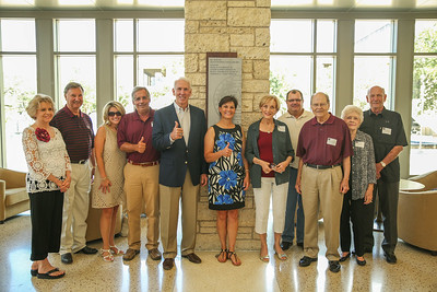 Trisha Neely??, Chaz Neely '62, Angel Bright, Clay Bright '78, RC Slocum and wife, Jody Jaynes, Brian Jaynes '87, Weldon Jaynes '54, Sandra Griffith, Jerry Griffith '54