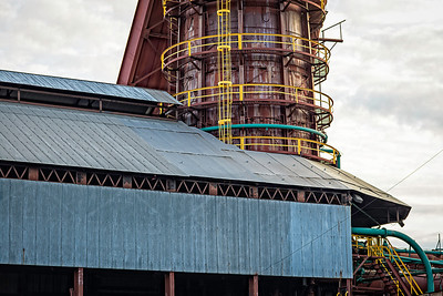 tower and shed at Sloss Furnaces