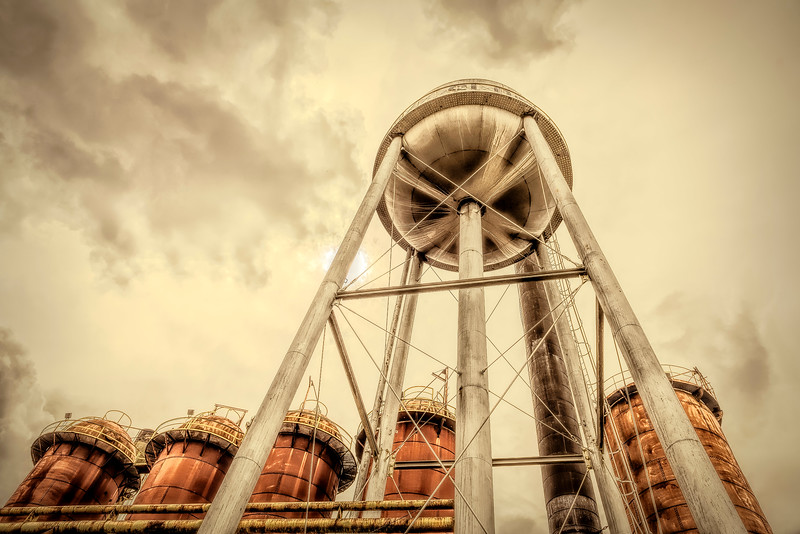 Sloss Furnaces Water Tower and Silos