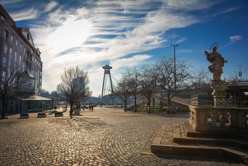 UFO Bridge & Tower in Bratislava