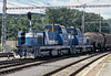 ZS Cargo 736.008 and 736.016 run into Banska Bystrica with a freight on 28 June 2008