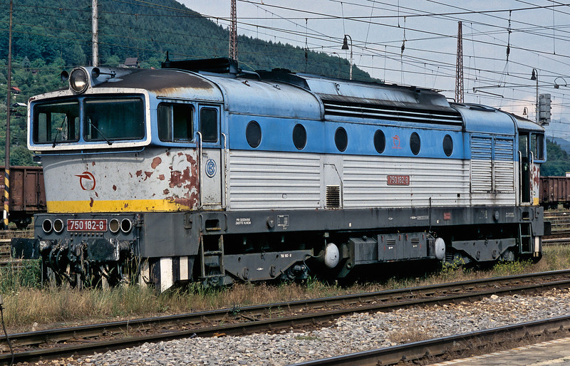 Looking more than a little battle-weary ZS 750.182 waits the call to arms at Zilina on 26 June 2008