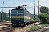 163.054 sits patiently at Liptovsy Mikulas with train Os7844 from Poprad-Tatry to Vrutky on 27 June 2008