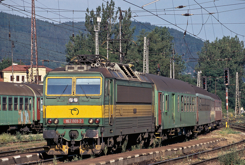 ZS 162.001 arrives at Zilina with train Os3907 from Cadca on 28 June 2008