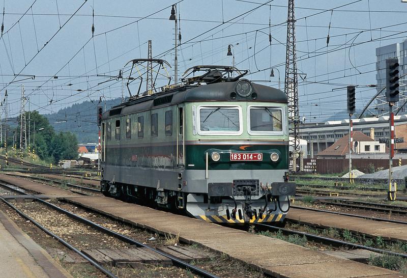 ZS Cargo 183.014 runs through Zilina on 27 June 2008